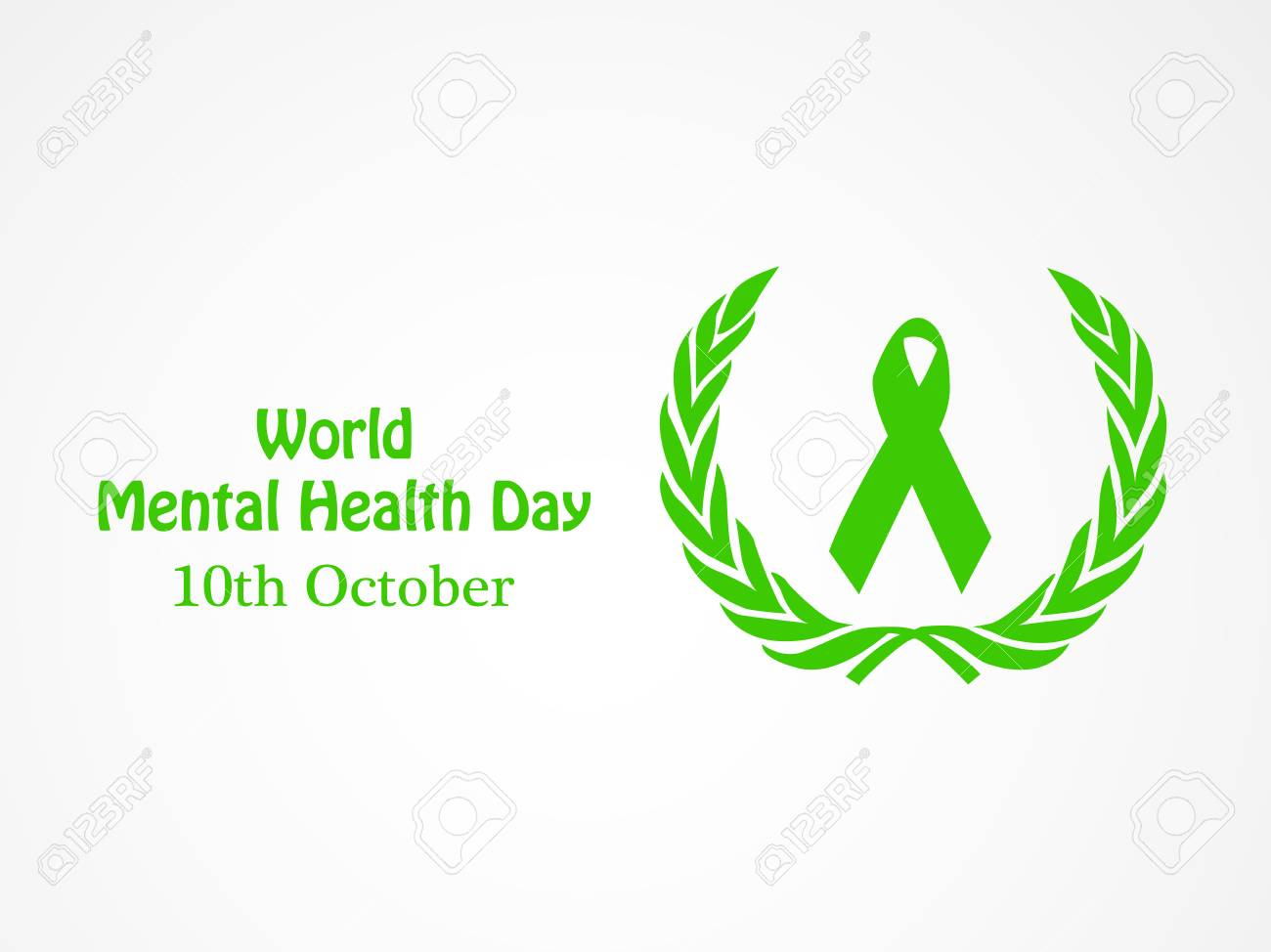 World Mental Health Day Banner Royalty Free Cliparts Vectors And Stock Illustration Image 85869330