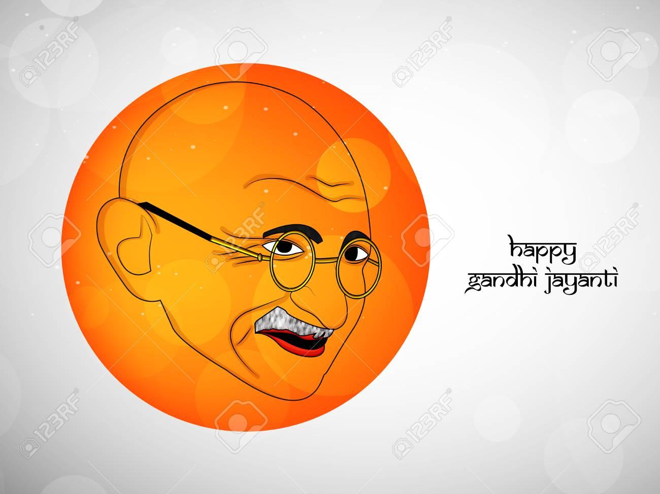 ガンジー Jayanti 背景の要素の図のイラスト素材ベクタ Image 85977935