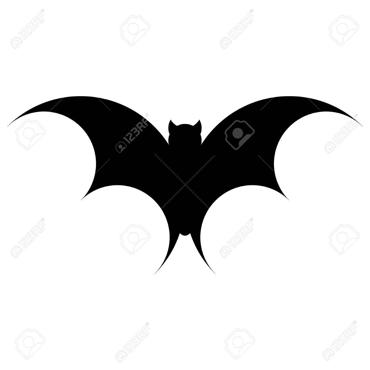 bat for the night halloween. vector silhouette. vector illustration