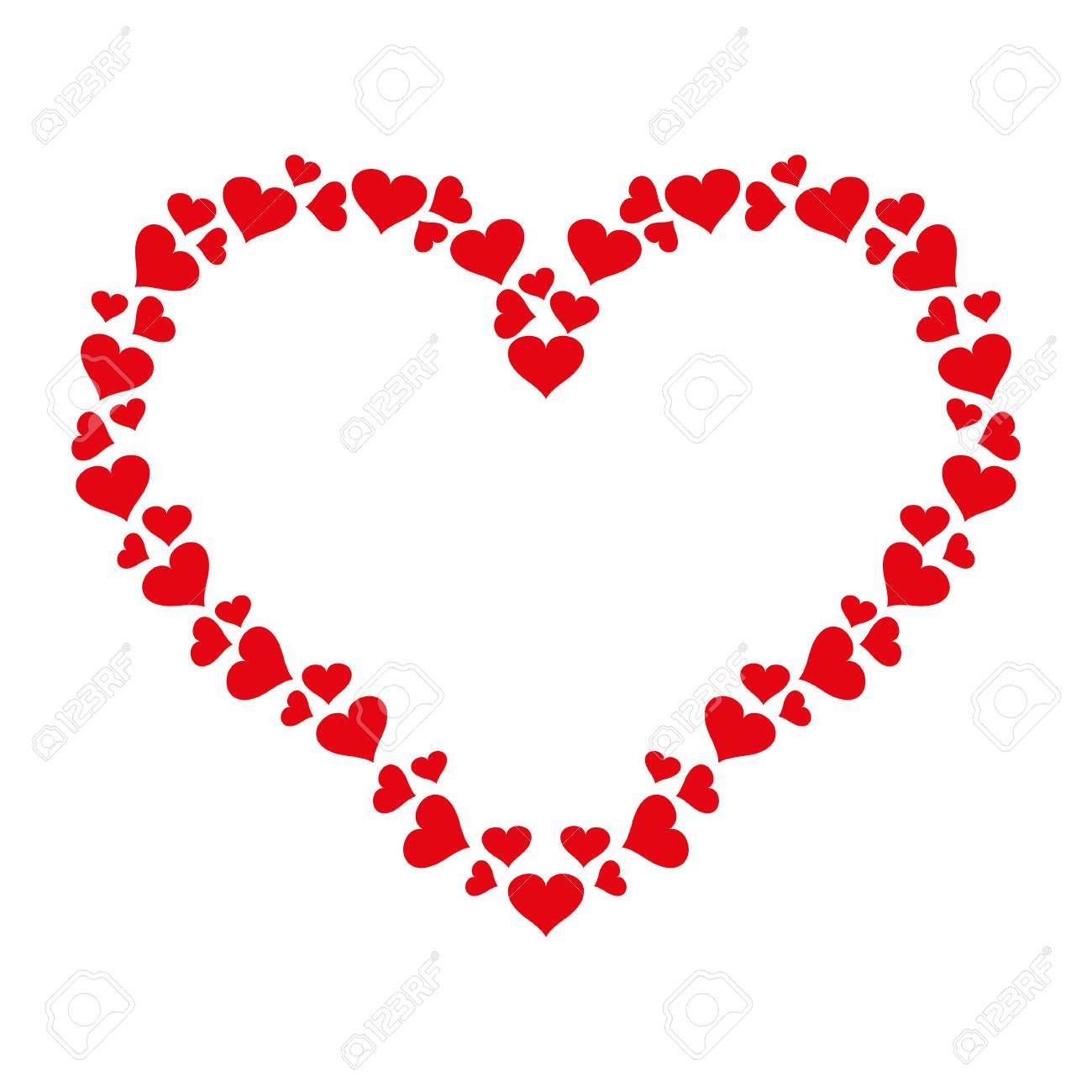 Heart Frame Of Small Hearts Icon Vector Love Symbol Valentine Royalty Free Cliparts Vectors And Stock Illustration Image 113852880 Download transparent heart frame png for free on pngkey.com. heart frame of small hearts icon vector love symbol valentine