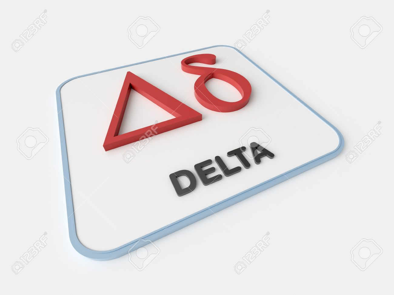 Delta greek symbol on white display board science and delta greek symbol on white display board science and mathematical concept stock photo 46428703 buycottarizona Images