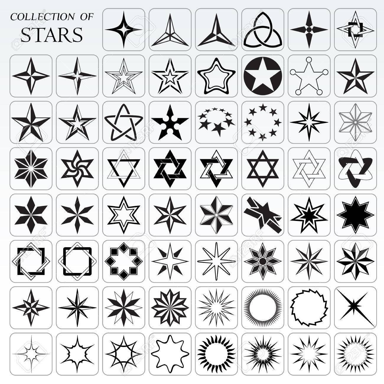Gran Colección De Estrellas Y Destellos Ilustraciones Vectoriales ...