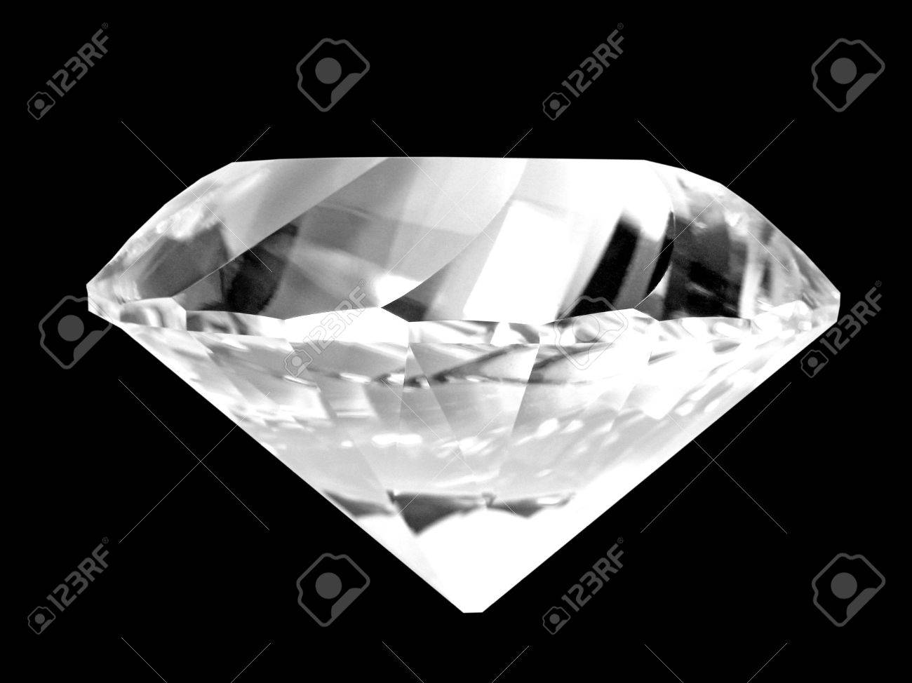 High-resolution digital color photography of a large diamond.  Dust free!  Brilliant color! Stock Photo - 678870