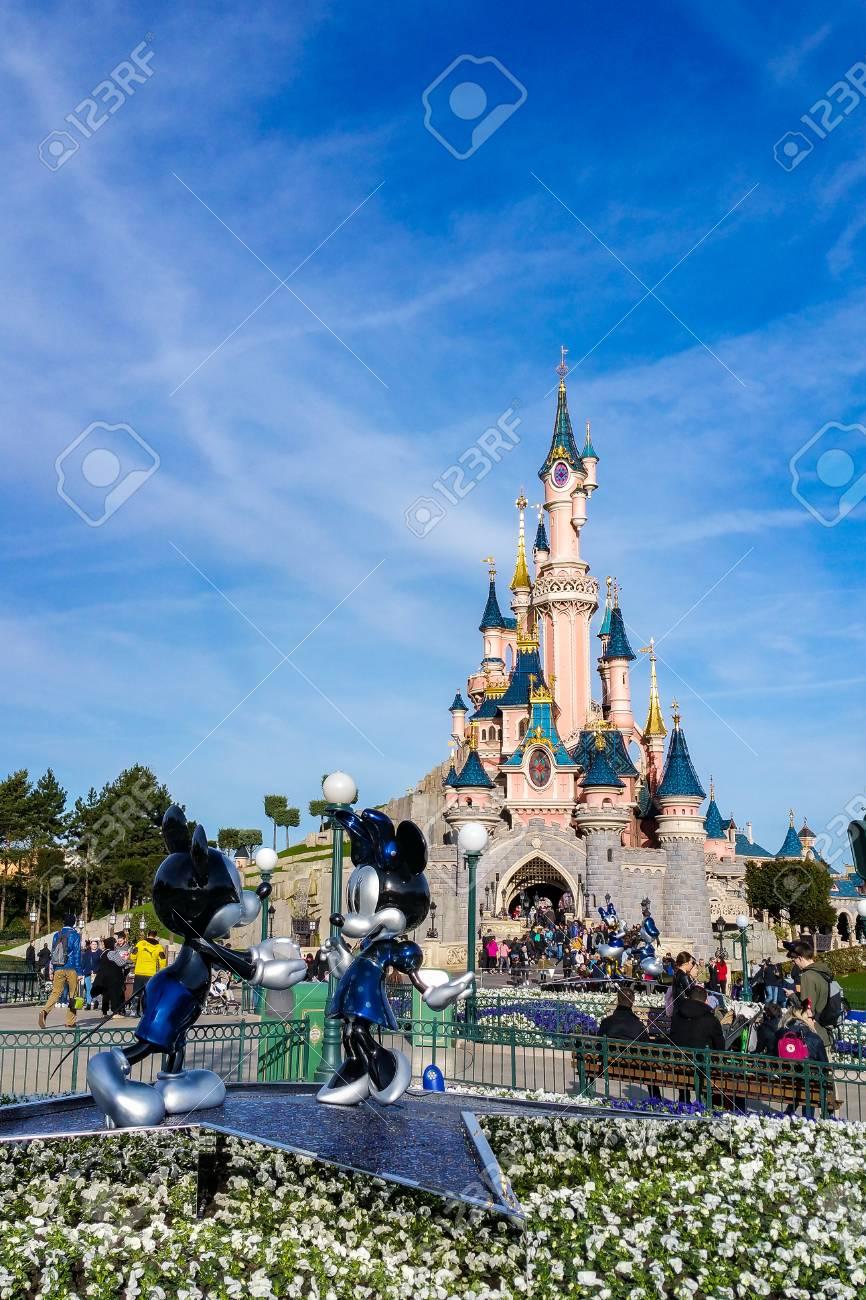 Marne La Vallee France March 10 2017 The Castle Of Disneyland