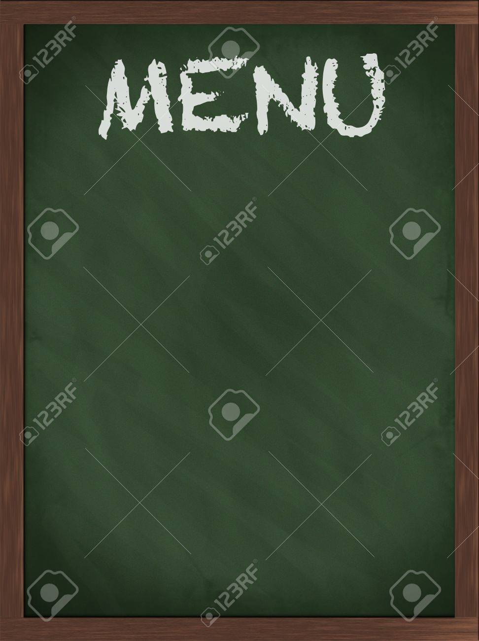 Green menu blackboard with empty space Stock Photo - 8226599