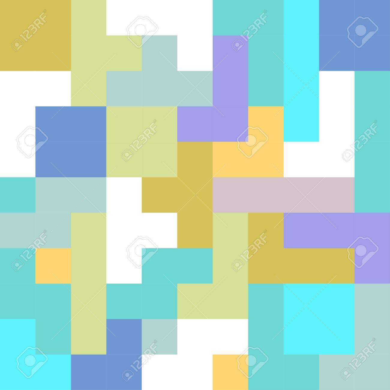 Abstracto Geométrico Pixel Art Digital De Fondo De La Plantilla ...