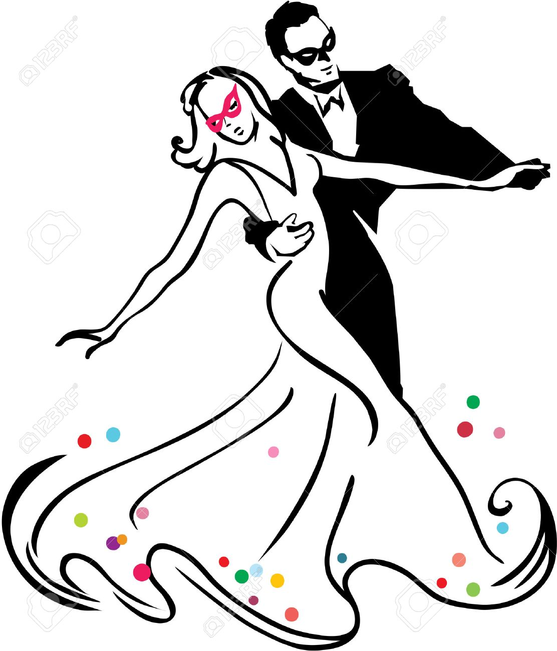 965 Waltz Dance Stock Vector Illustration And Royalty Free Waltz ...