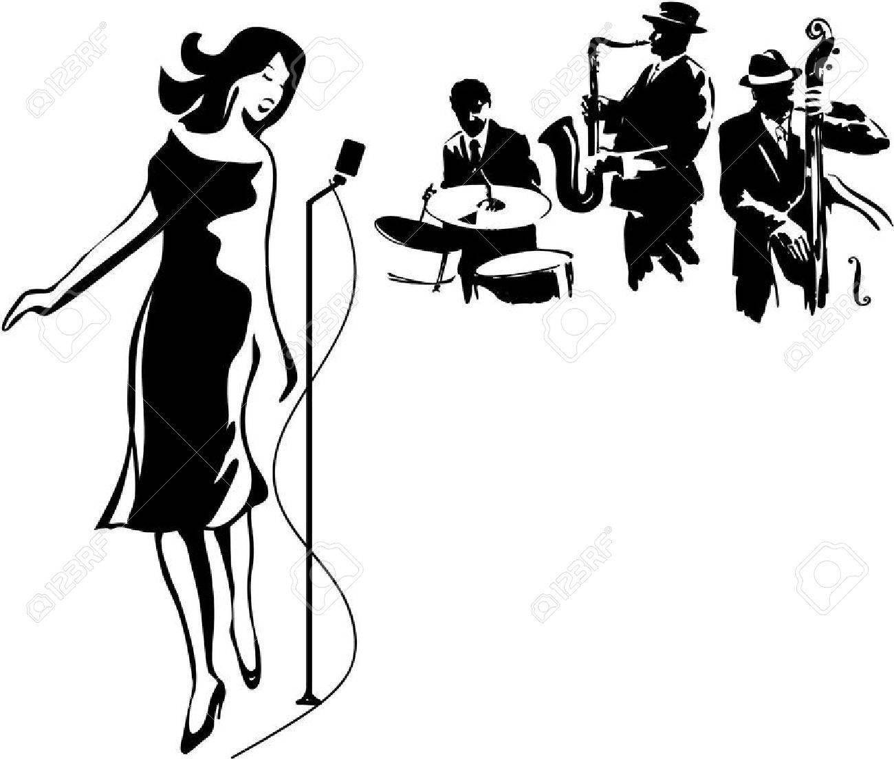 3 525 jazz singer stock vector illustration and royalty free jazz rh 123rf com jazz music clipart jazz band clipart