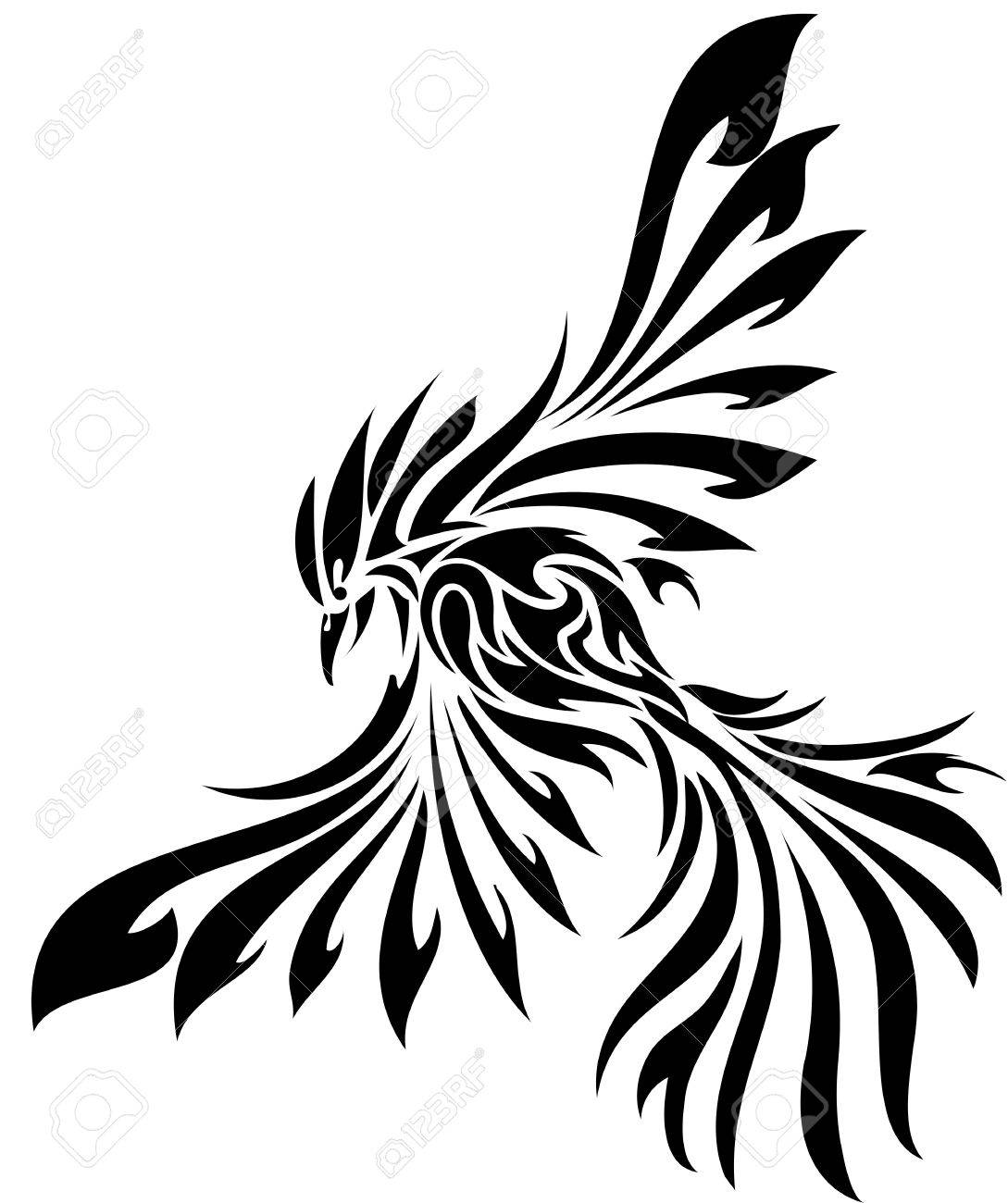 Tribal flying eagle bird