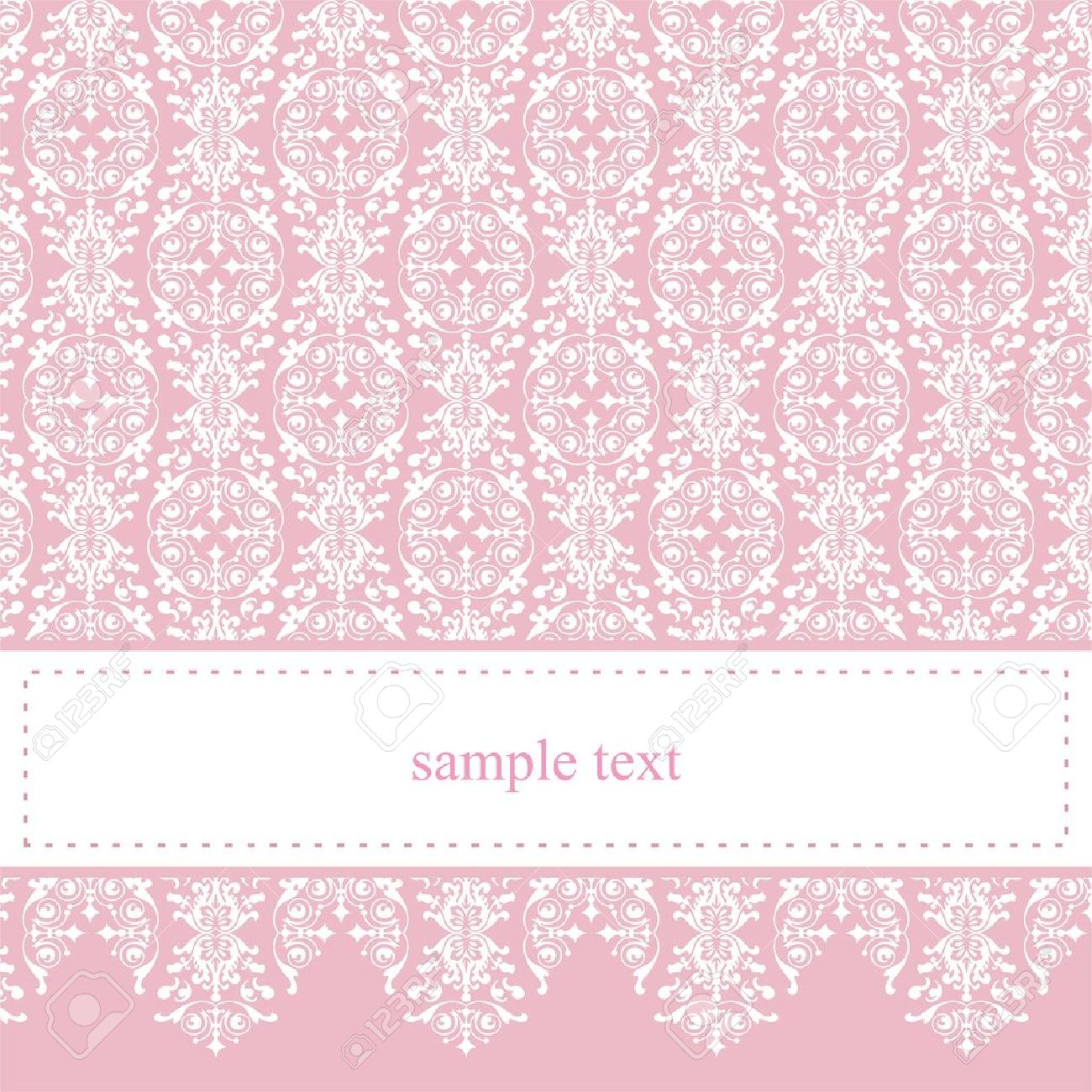 Sweet pink vector card or invitation for party birthday baby imagens sweet pink vector card or invitation for party birthday baby shower with white classic elegant lace cute background with white space to put stopboris Images