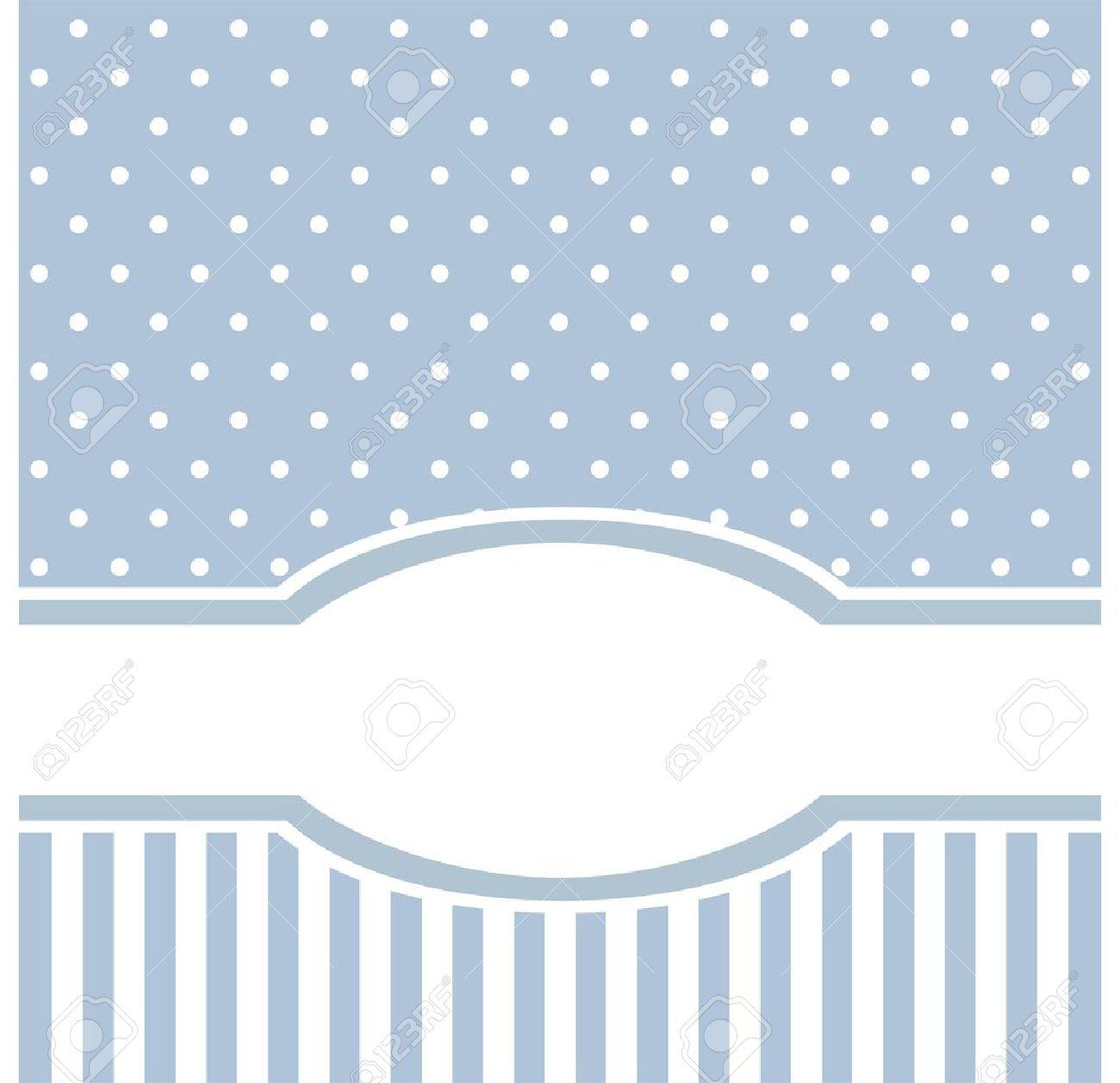 Tarjeta De Dulce Vector Azul O Una Invitacion Para El Cumpleanos O