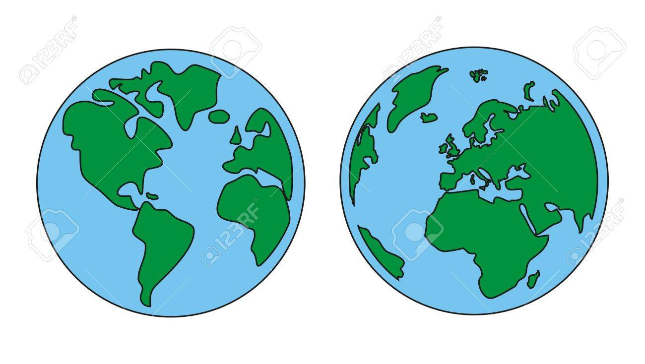 Hand draw illustration of world globe isolated on white background hand draw illustration of world globe isolated on white background with north and south america gumiabroncs Gallery