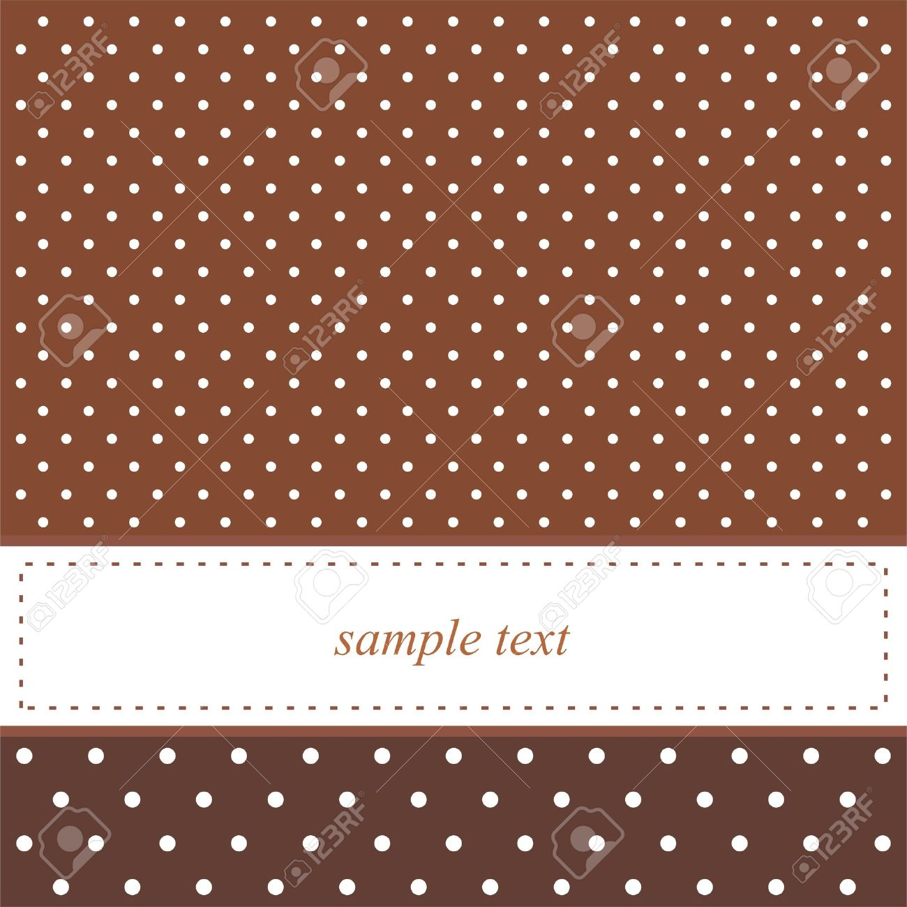 Brown Background With White Polka Dots