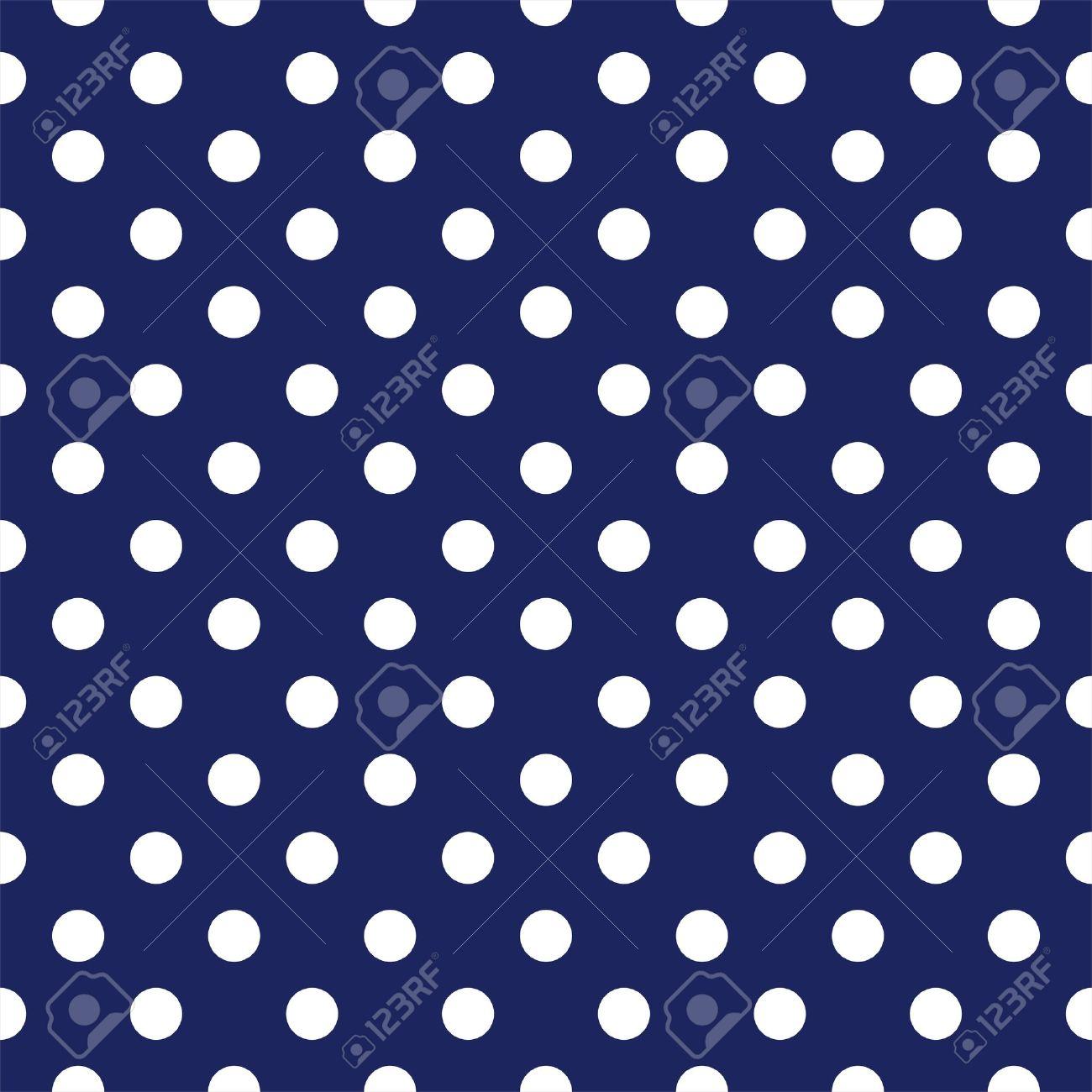 美少女戦士セーラームーン ネイビー ブルーの背景に白の水玉のシームレスなパターンのイラスト素材 ベクタ Image