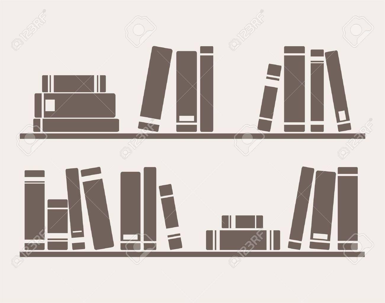 Libros sobre la ilustración de los estantes, simplemente retro  Objetos  para la decoración vintage, fondo, texturas o fondos de pantalla de diseño  de