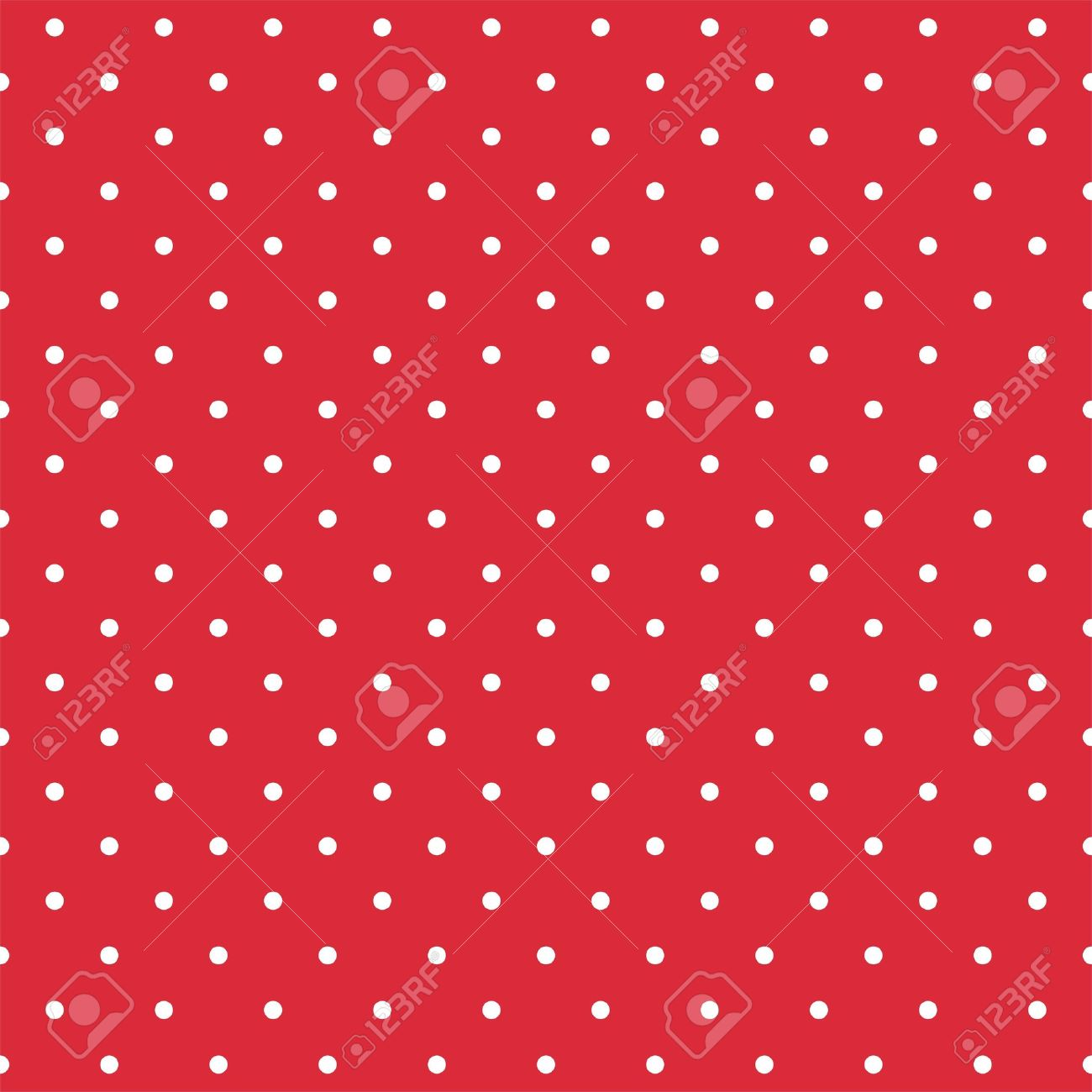 Retro vector pattern with white polka dots on red background - retro seamless pattern for backgrounds, blogs, www, scrapbooks, party or baby shower invitations and wedding cards Stock Vector - 14441052