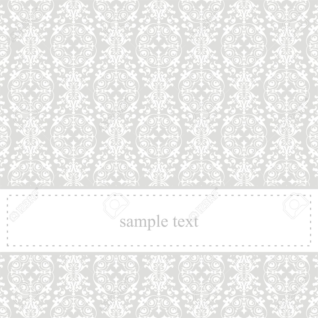 Classic, elegant vector card or invitation for party, birthday or wedding with white lace. Cute background with white space to put your own text message. Stock Vector - 14539045
