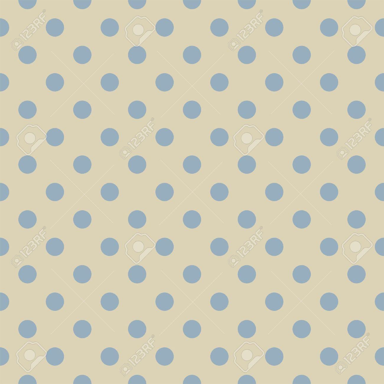 Pastel blue polka dots on light beige neutral background retro pastel blue polka dots on light beige neutral background retro seamless pattern for backgrounds voltagebd Images