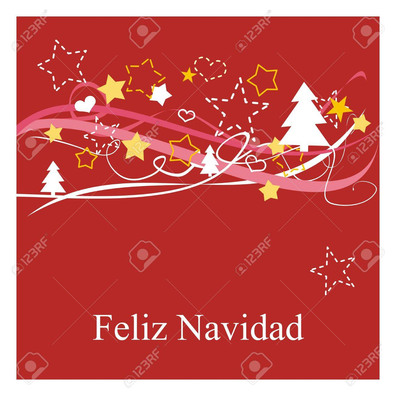 Feliz Navidad! Espanol - Spanish Christmas Card Or Invitation ...