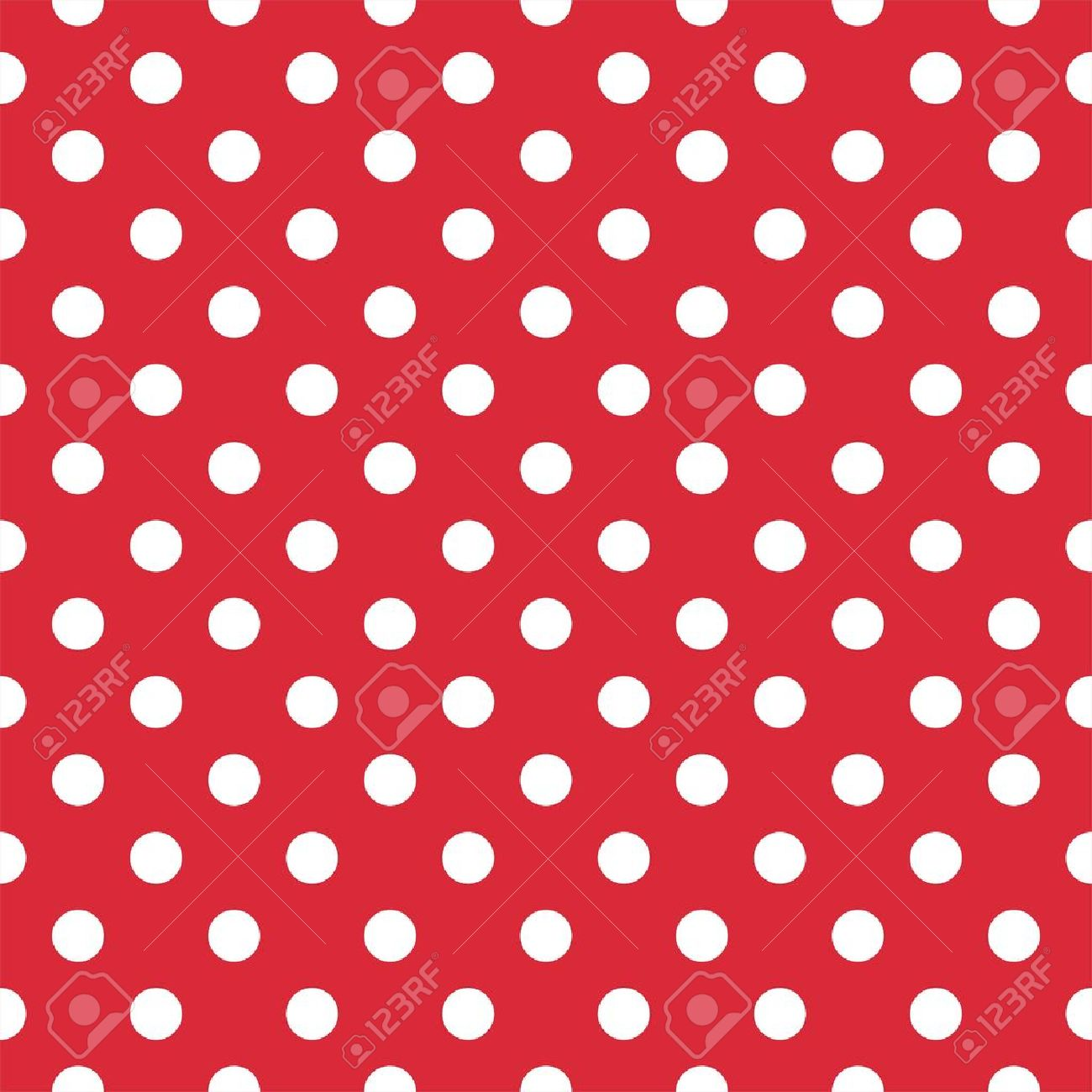 retro pattern with white polka dots on red background retro