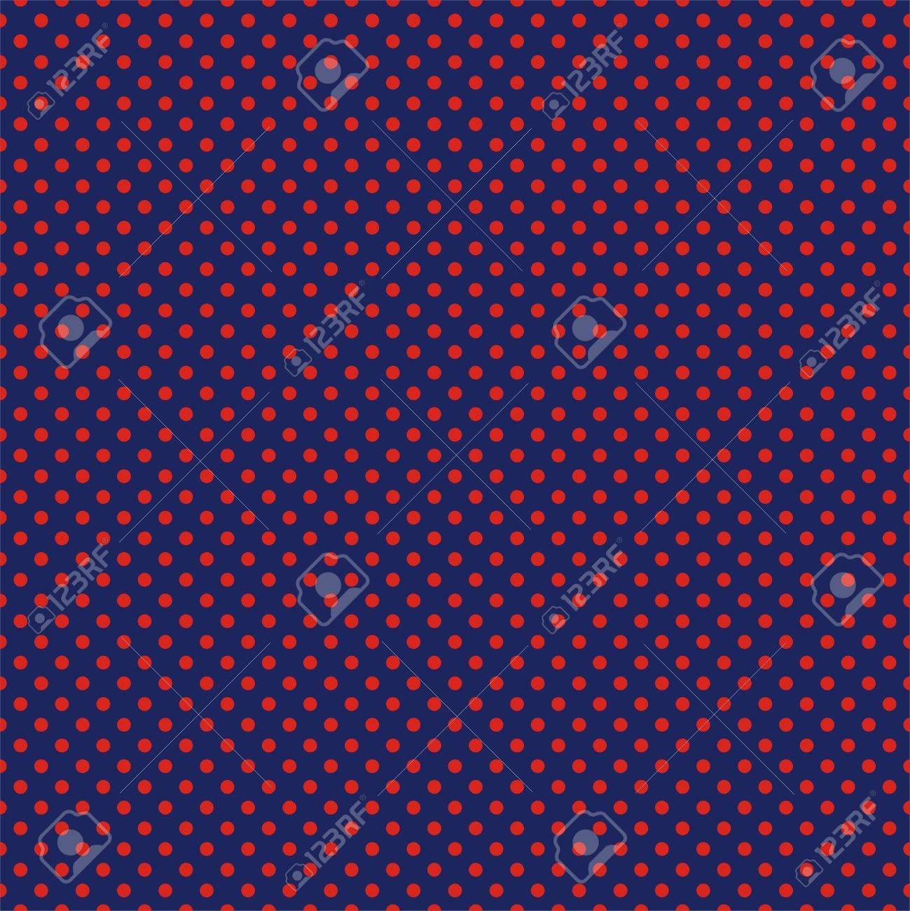 美少女戦士セーラームーン ネイビー ブルーの背景に赤の水玉とシームレスなパターン ベクトル カード 招待状 結婚式やベビー シャワーのアルバム 背景 芸術およびスクラップ ブックのためのイラスト素材 ベクタ Image