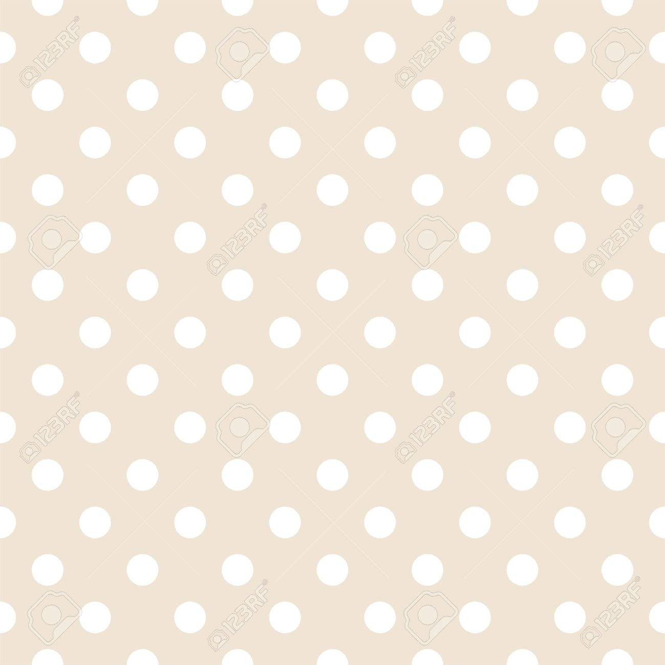 White polka dots on light beige neutral background retro white polka dots on light beige neutral background retro seamless vector pattern for backgrounds voltagebd Images