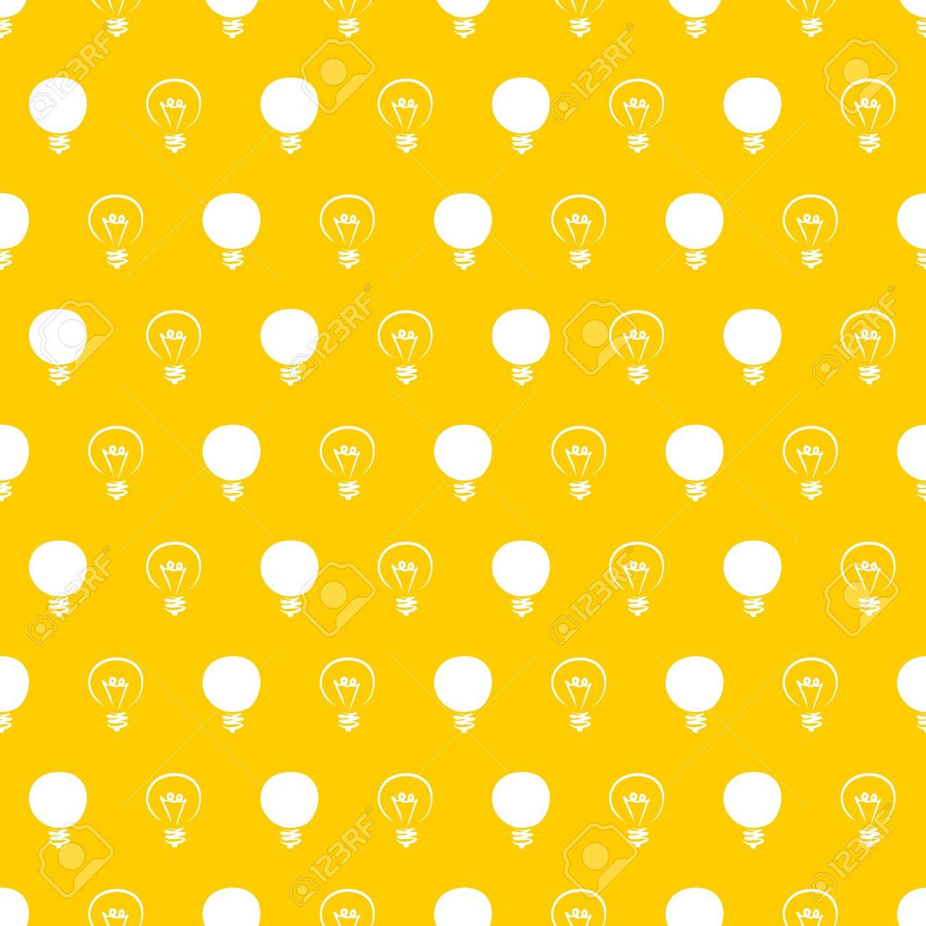 Seamless pattern, texture or background with light bulbs Stock Vector - 15569525