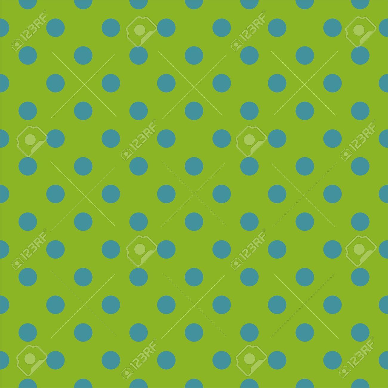Vettoriale Senza Soluzione Di Modello Con Neon Punti Blu Polka Su