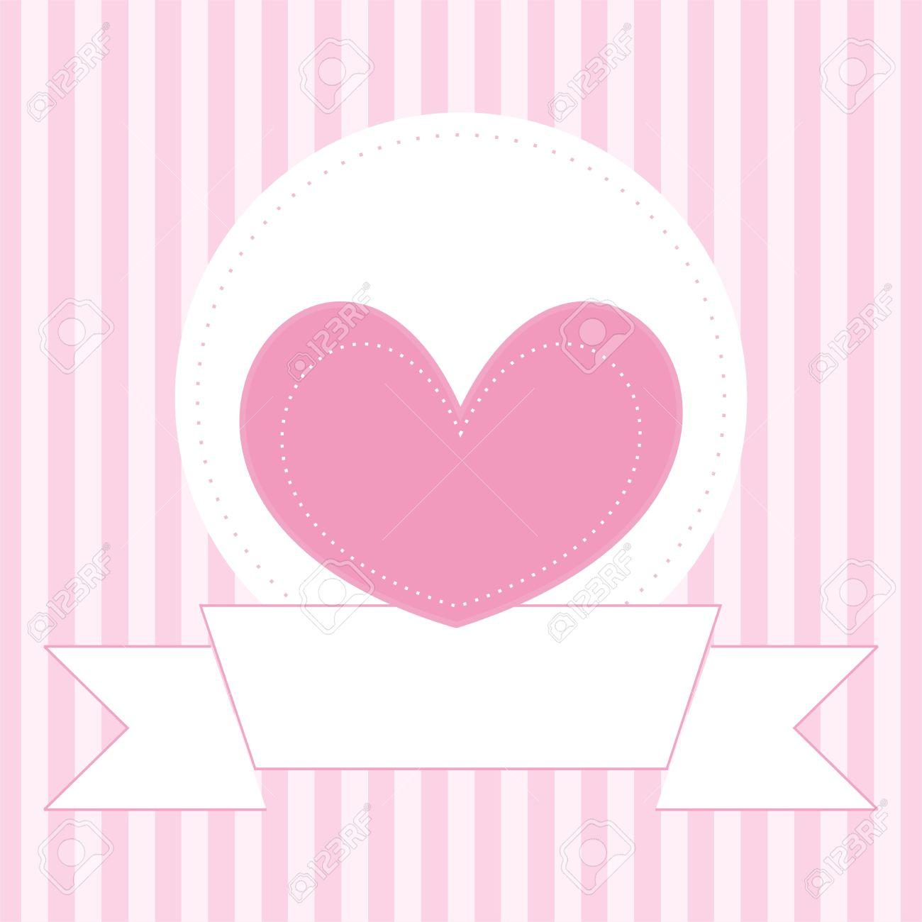 Vector Wedding Card, Baby Shower Invitation Or Valentines Card ...