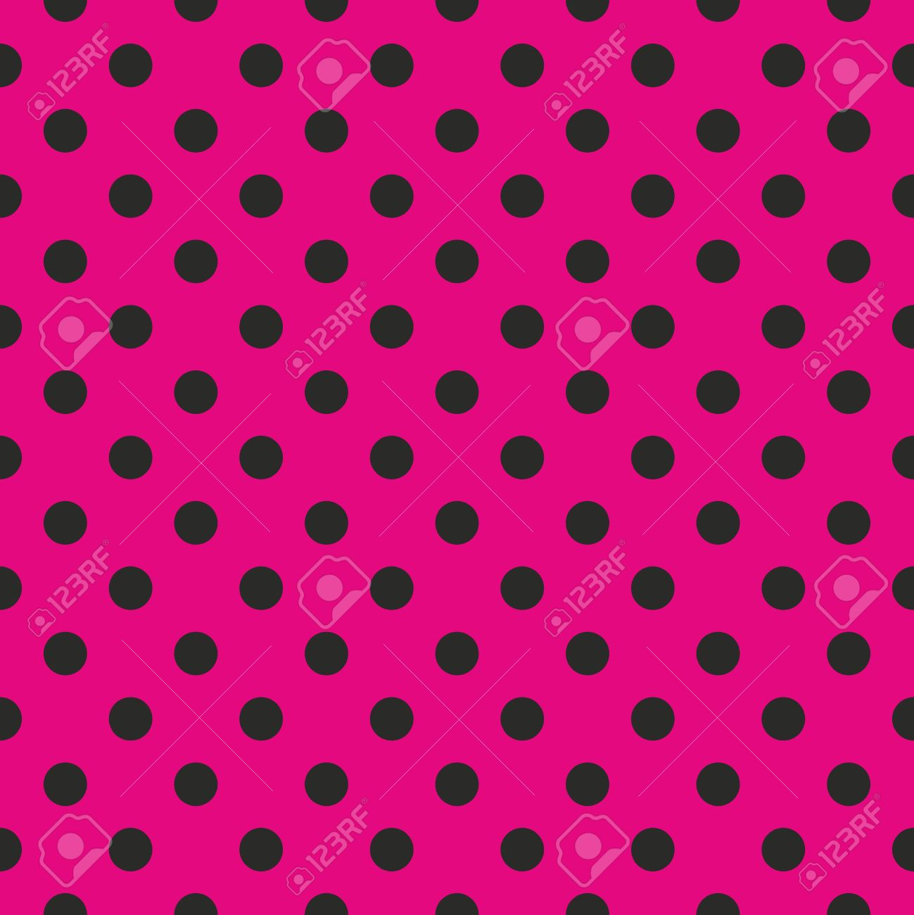 Seamless pop art abstract pattern or texture with neon pink polka dots on black background. For web design, wallpaper, blog, documents template. Stock Vector - 16080844