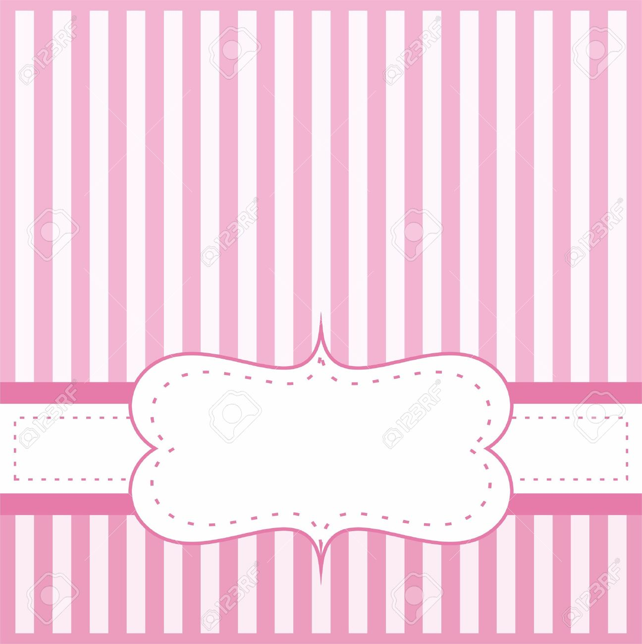 pink vector card invitation for baby shower wedding or birthday