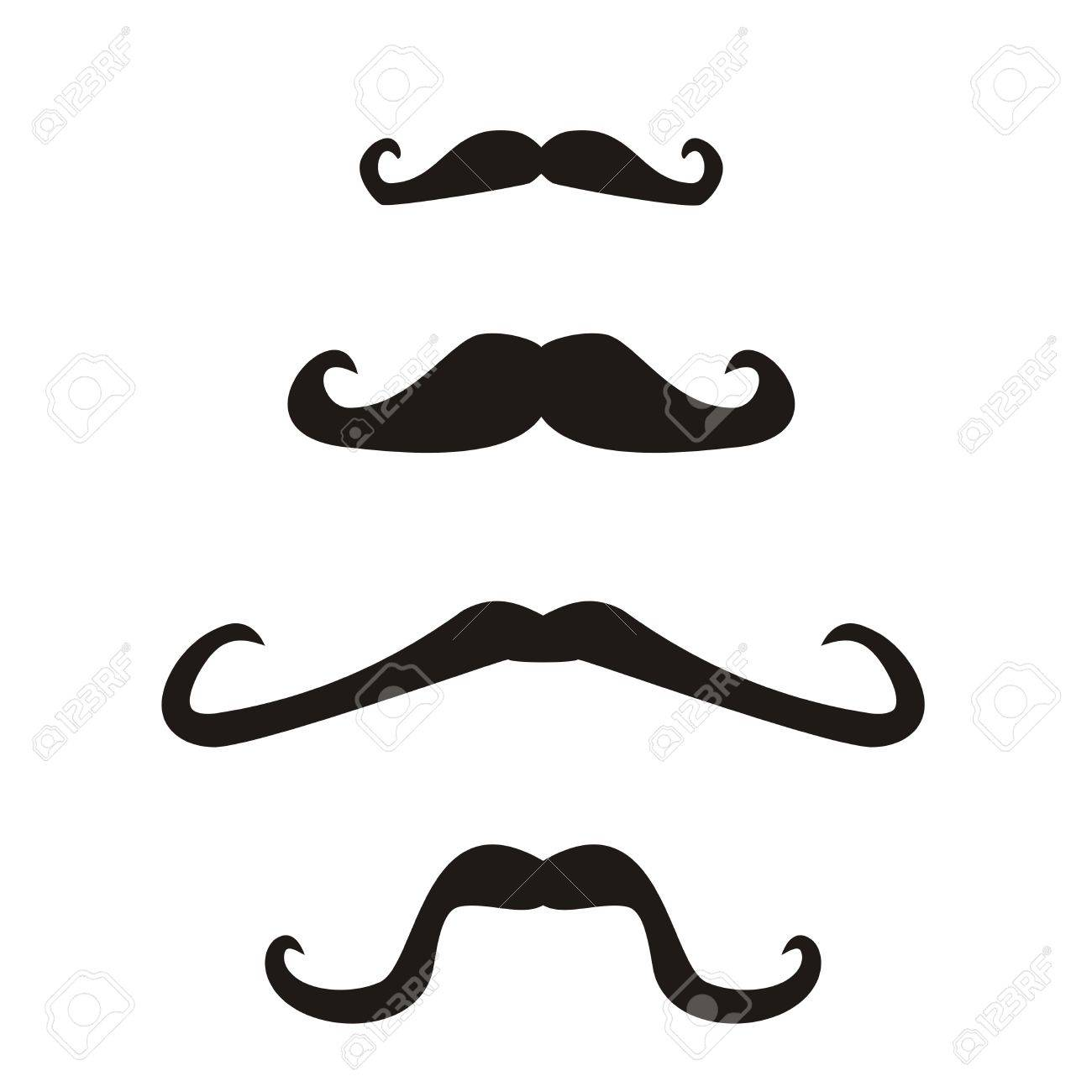 Set of  curly vintage retro gentleman mustaches Stock Vector - 16557480