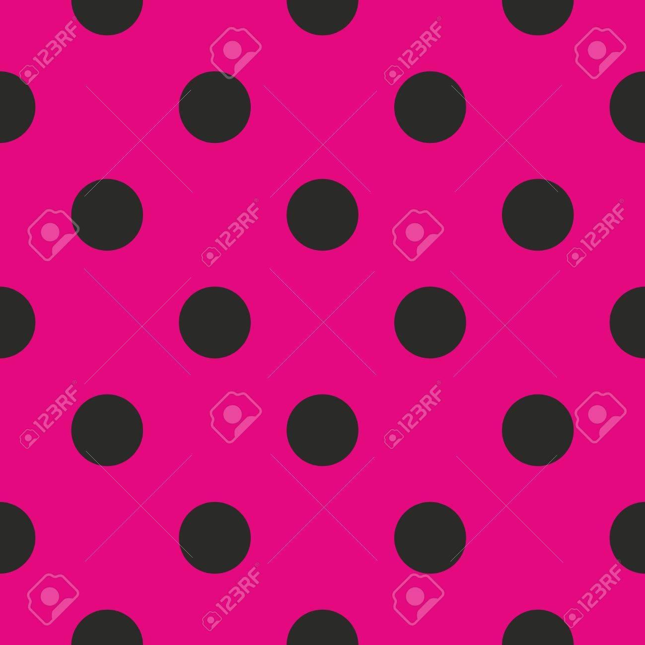 Sin Fisuras Vector Patrón O La Textura Con Lunares Negros Sobre Fondo De Color Rosa Neón Para Las Tarjetas Invitaciones Páginas Web De Escritorio