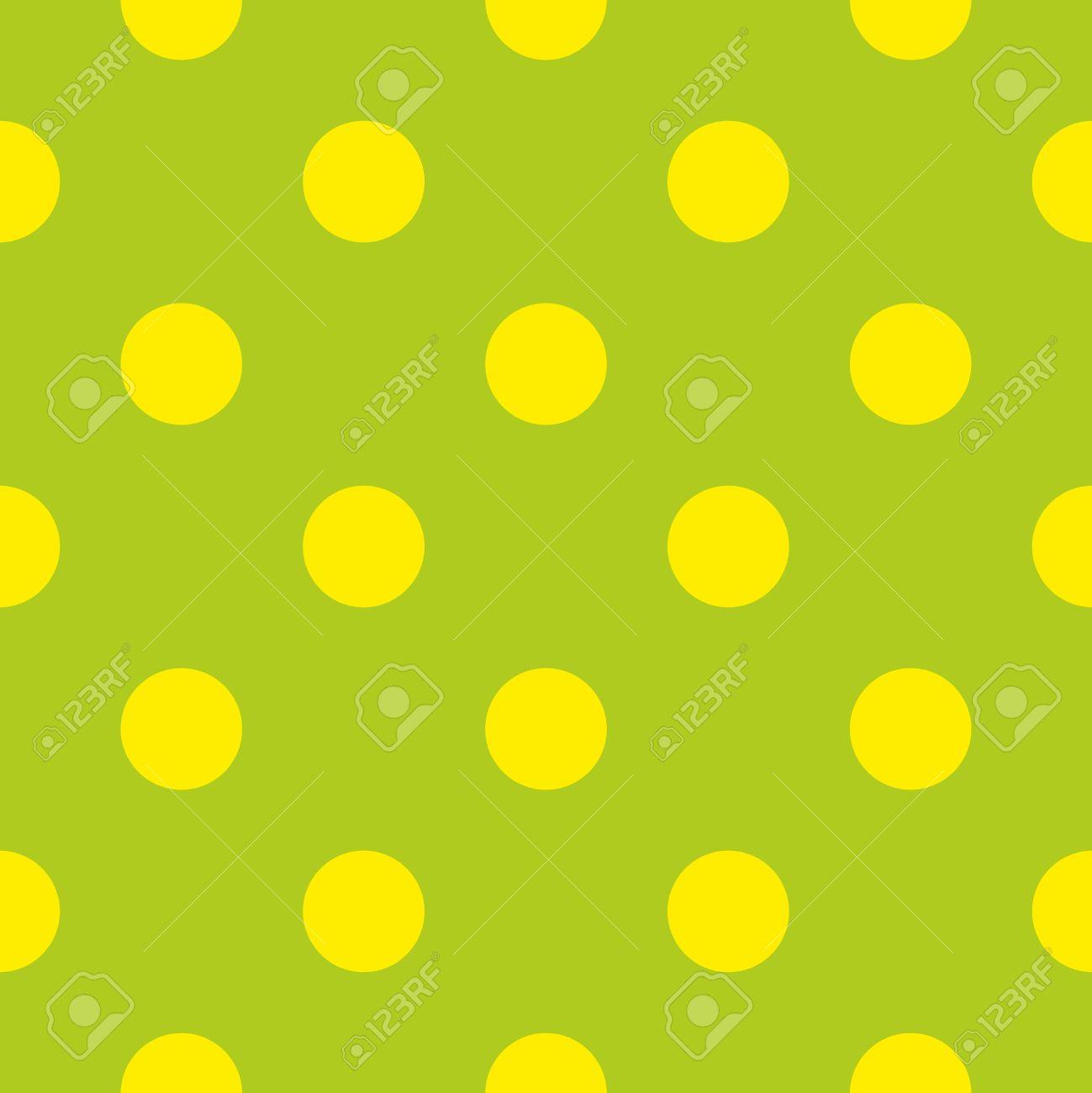 Vettoriale Senza Soluzione Di Modello Con Neon Polka Puntini