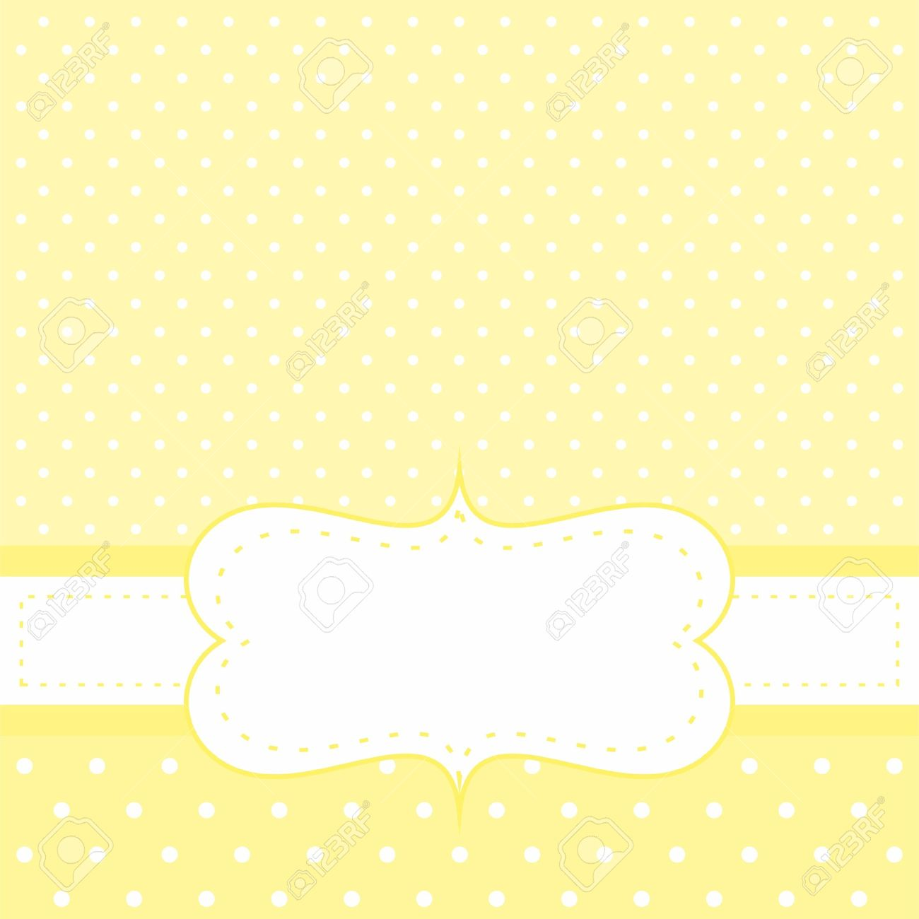 Vector Sunny Yellow Wedding Card Or Baby Shower Party Invitation ...