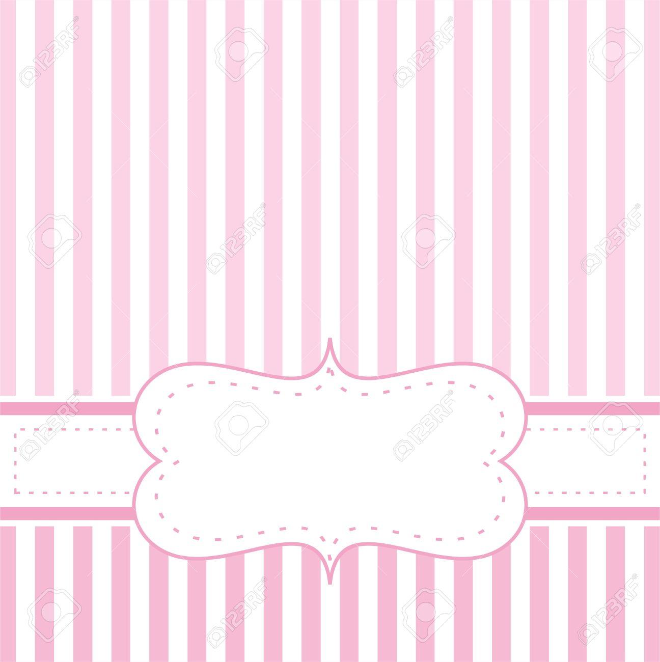 Invitación Rosada Tarjeta Vector Para Baby Shower Partido, Boda O ...