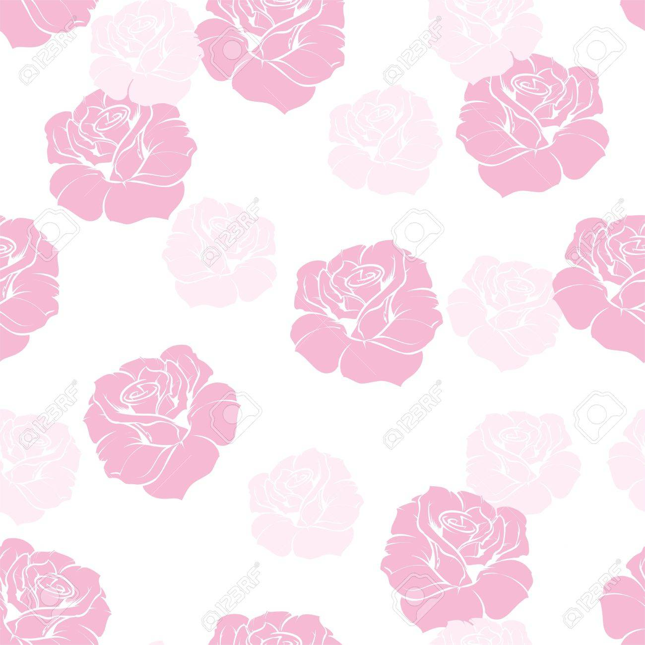 Seamless Floral Pattern Elegant Pink Rose Background Beautiful Romantic Abstract Texture With Flowers