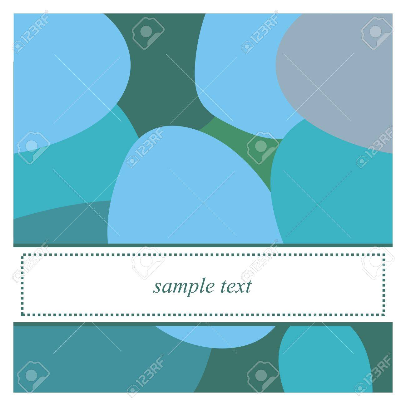 Sweet, blue, grey and green pop art card or invitation. Cute background with white space to put your own text message. Cocktail party, birthday, baby shower or other occasion Stock Vector - 18558122