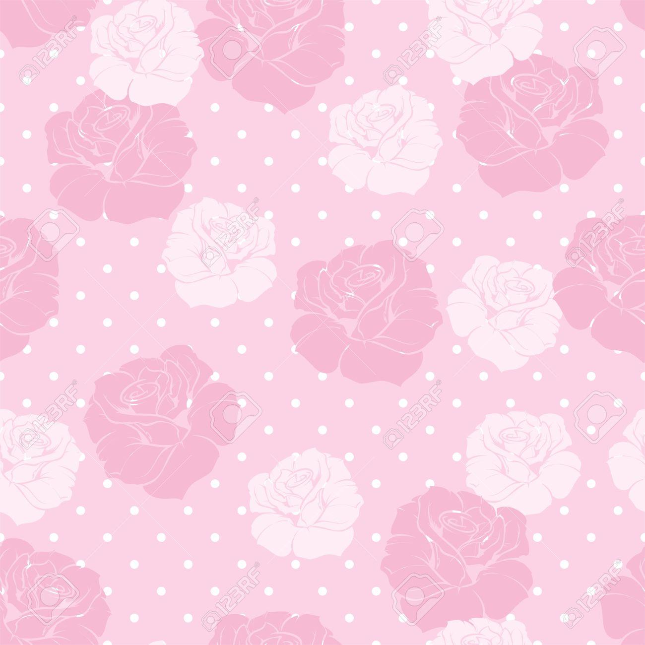 modelo floral inconsútil del vector con las rosas rosadas y blancas