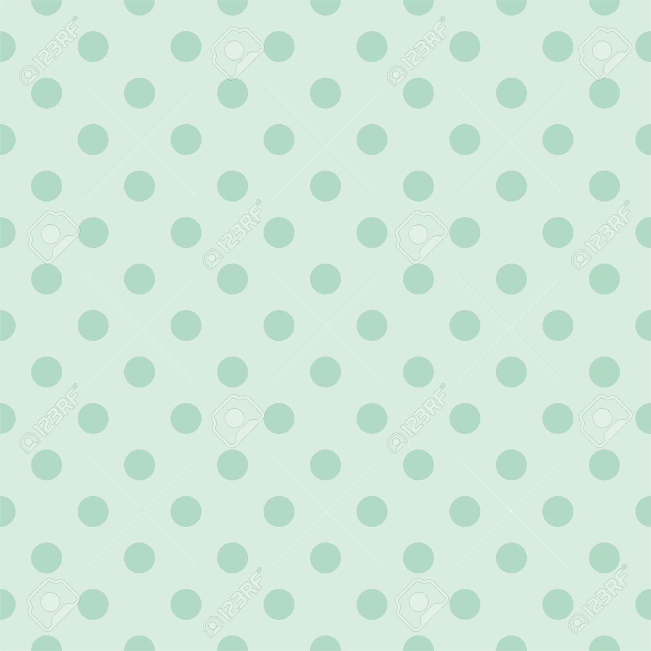 Seamless pattern with dark bottle green polka dots on a retro seamless pattern with dark bottle green polka dots on a retro vintage mint green background voltagebd Images