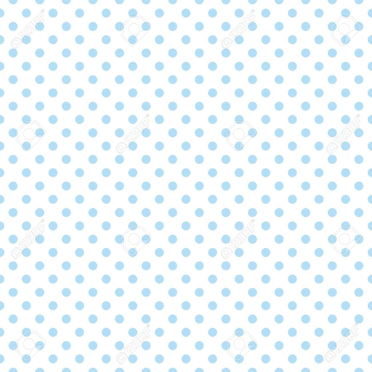 Seamless Vector Pattern With Cute Pastel Baby Blue Polka Dots