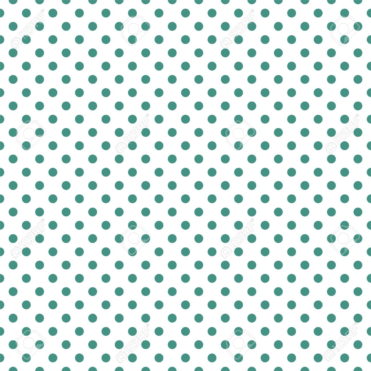Seamless Vector Pattern With Cute Bottle Green Polka Dots On White Background For Web Design