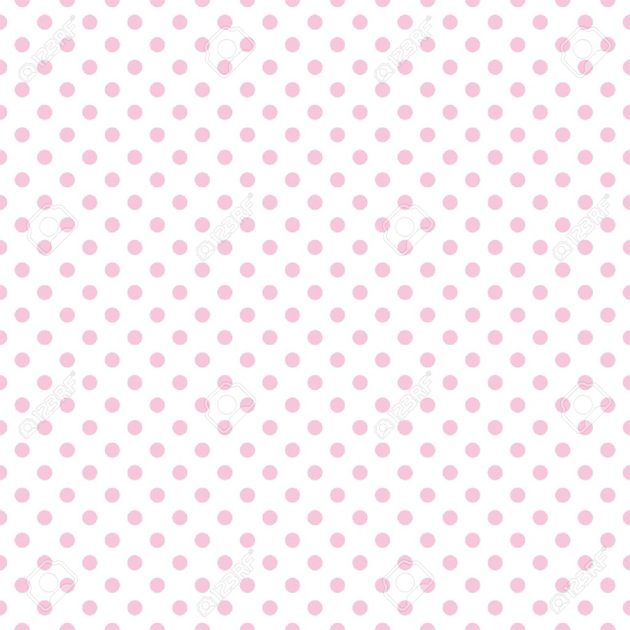 Seamless pattern with pastel pink polka dots on a white background Stock Vector - 22110121
