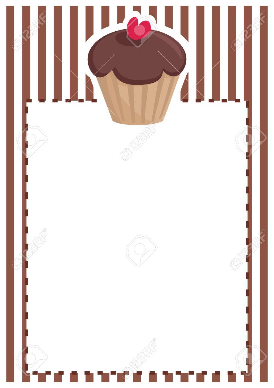Retro vector restaurant menu wedding card list or baby shower retro vector restaurant menu wedding card list or baby shower invitation with sweet chocolate stopboris Images