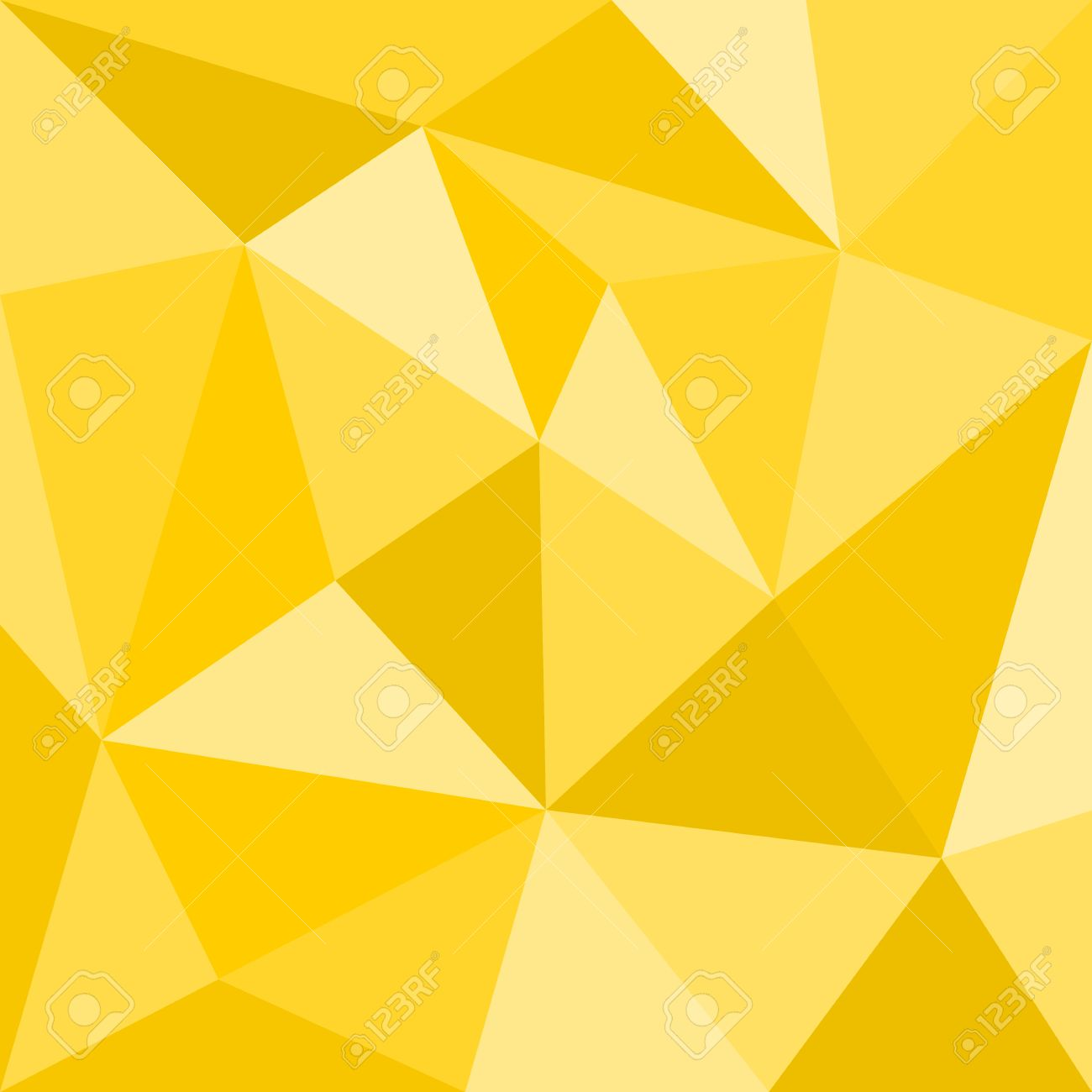Triangle Yellow Vector Background Or Seamless Sunny Summer Pattern ...