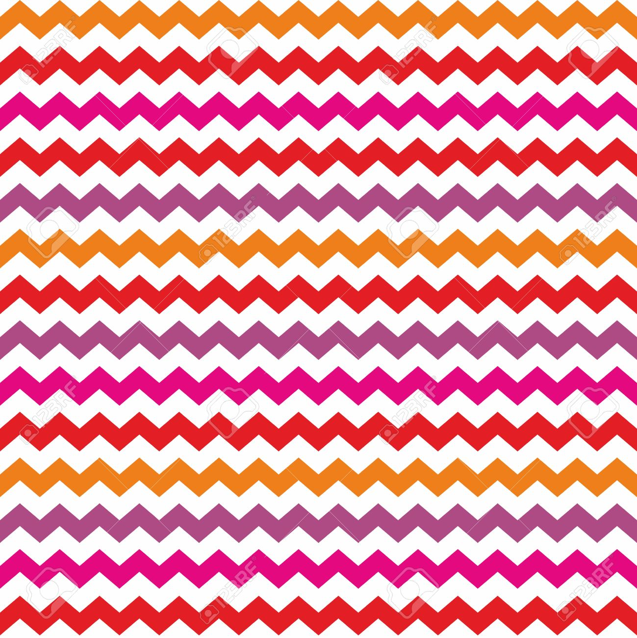 Chevron Vector Seamless Colorful Pattern Or Tile Background With Zig Zag Red Purple Pink