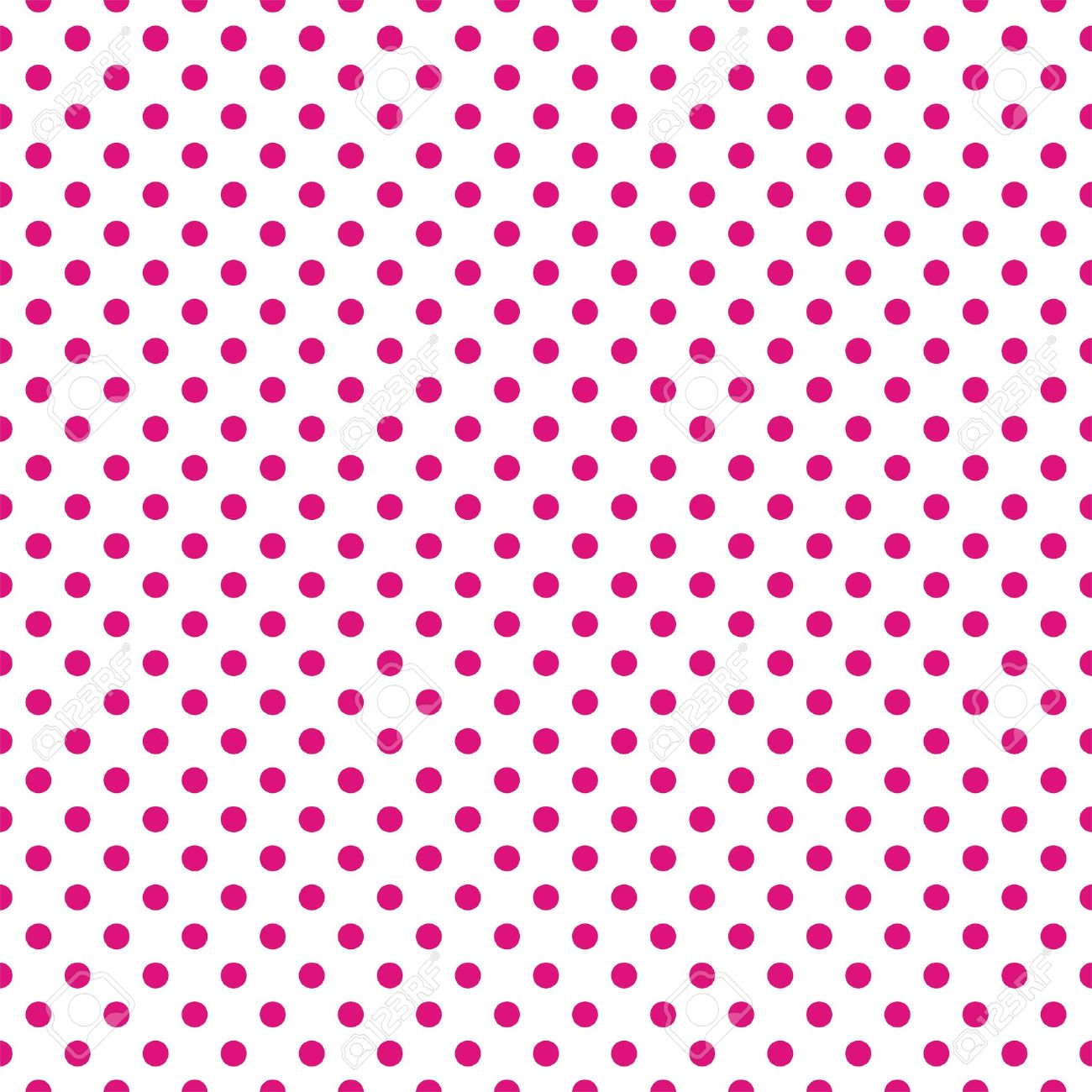 Seamless Vector Pattern With Dark Pastel Pink Polka Dots On White ...