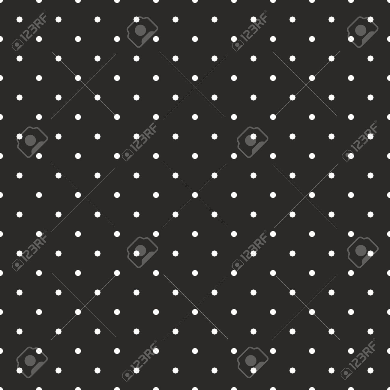Seamless Vector Black Tile Pattern Or Background With Small White