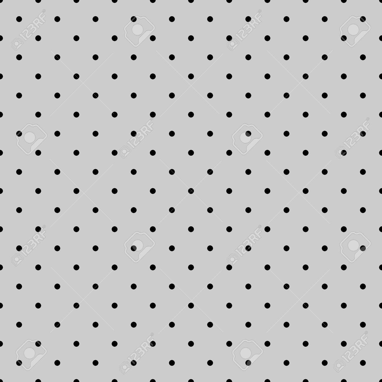 シームレスな黒とグレーのベクトル パターンまたはタイルの背景のデスクトップの壁紙 装飾およびウェブサイトの設計のための小さな水玉のイラスト素材 ベクタ Image