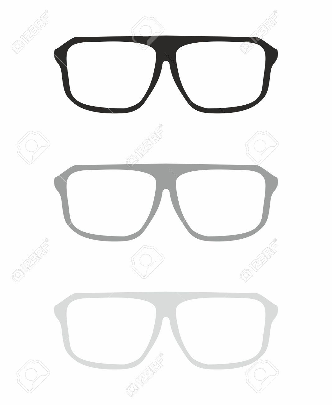 Gläser Vektor Mit Schwarz Und Grau Halter Hipster Objekt Isoliert ...